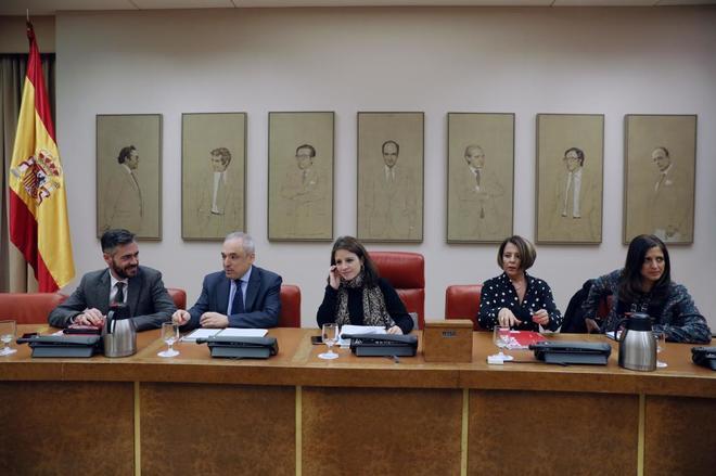 Reunión del Grupo Socialista en el Congreso de los Diputados.