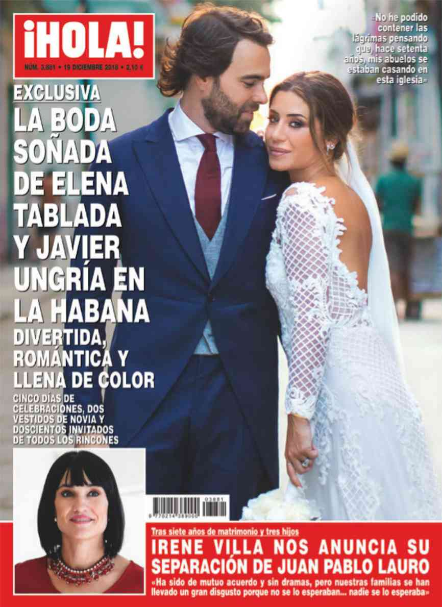 La boda soñada de Elena Tablada