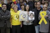 Actos de trabajadores del Parlament de Cataluña en protesta por la...