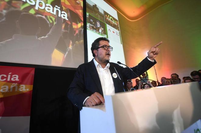 El candidato de Vox a la presidencia de la Junta de Andalucía,...