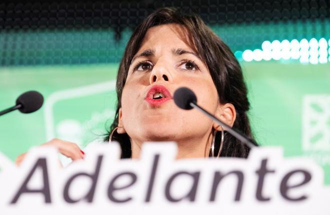 La candidata a la presidencia por Adelante Andalucía, Teresa...