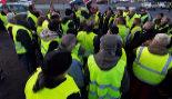 'Chalecos amarillos' concentrados en la localidad francesa de Burdeos.