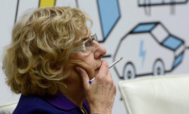 Manuela Carmena, en la presentación del 'Plan A' para la calidad del aire.