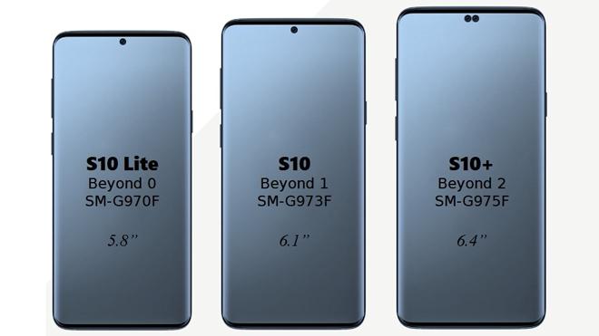 Así lucirían los tres Samsung Galaxy S10 según las filtraciones