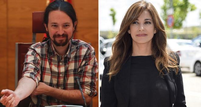 A la izquierda, Pablo Iglesias. A su derecha, Mariló Montero.