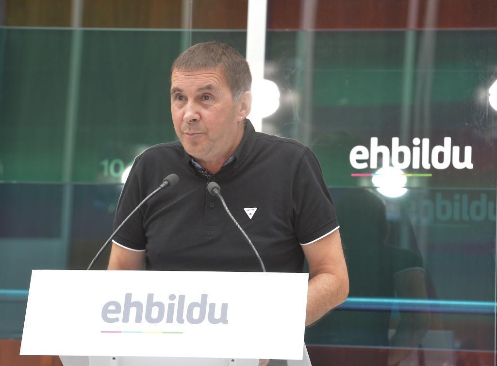 Arnaldo Otegi, coordinador de EH Bildu.