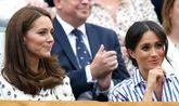 Kate y Meghan, durante un partido de tenis