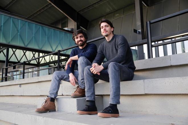 Iñaki Díaz y Dani Moya en el Canòdrom de Barcelona.