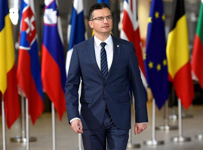 El primer ministro esloveno, Marjan Sarec, durante el Consejo Europeo
