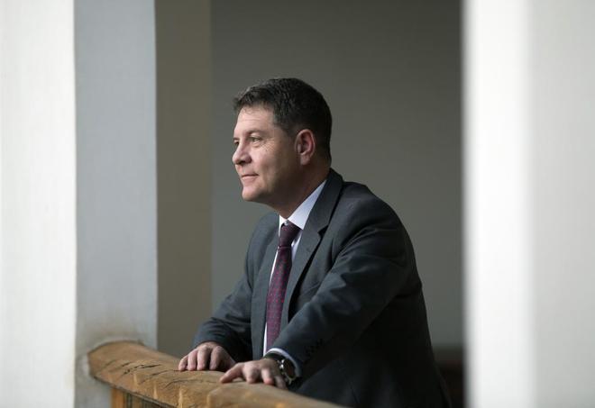 El presidente de Castilla-La Mancha, Emiliano García Page, durante...