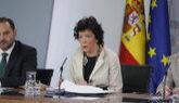 Isabel Celaá, junto a José Luis Ábalos, en rueda de prensa tras el...