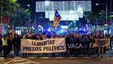 Manifestación por las calles de Barcelona convocada por los Comités...
