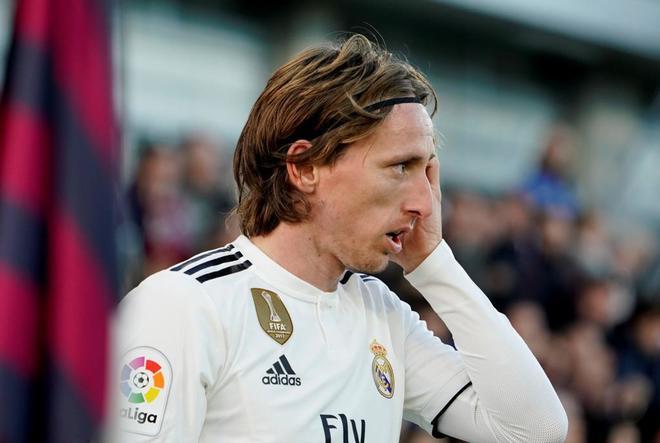 Modric, durante un partido reciente del Real Madrid.
