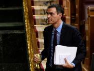 Pedro Sánchez en el Pleno del Congreso de los Diputados.