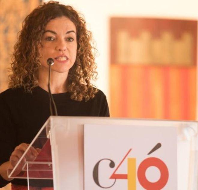Rosario Sánchez en los actos de la Constitución.