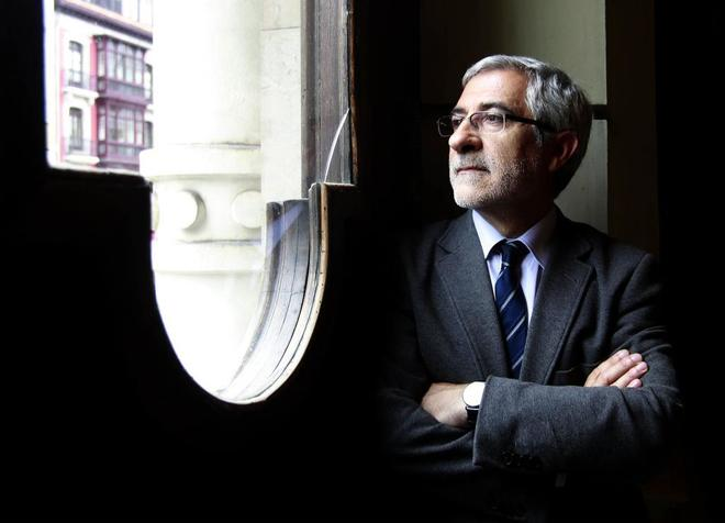 Gaspar Llamazares, actual diputado asturiano y anteriormente coordinador federal de IU.