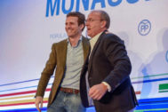 Pablo Casado junto a Jose Antonio Monago.