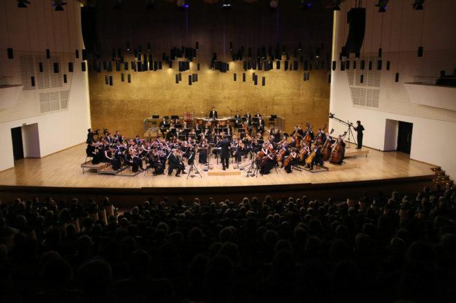 El Auditorio Provincial de Alicante (ADDA) con su aforo completo durante el concierto inaugural de Adda Sinfónica.
