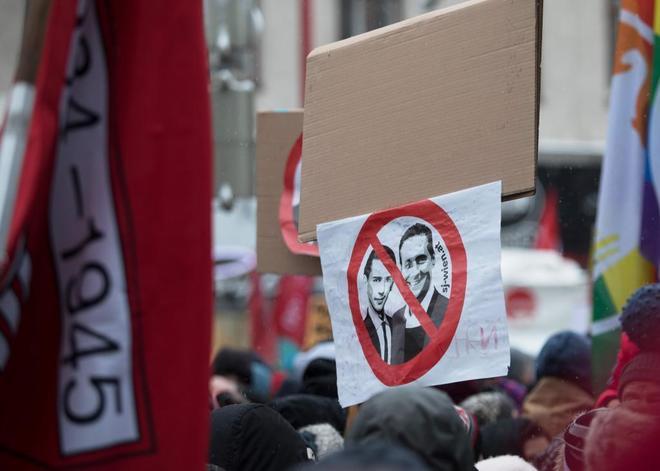 Manifestación contra el Gobierno austriaco, en Viena.