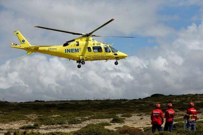Uno de los helicópteros del Instituto de Emergencia Médica (INEM) de Portugal.
