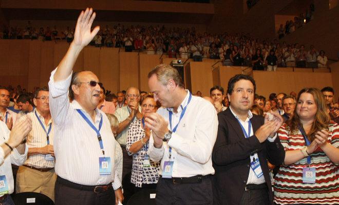 Carlos Fabra, en la celebración de una de las victorias electorales del PP en Castellón.