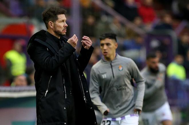 Diego Pablo Simeone, durante el partido ante el Valladolid.