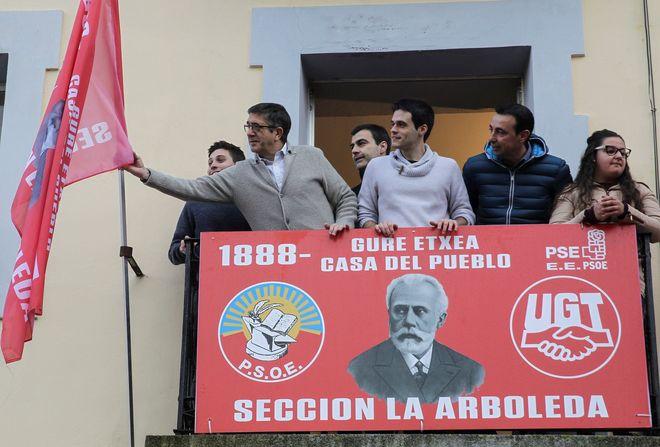 El secretario de Política Federal del PSOE, Patxi López, en La Arboleda.