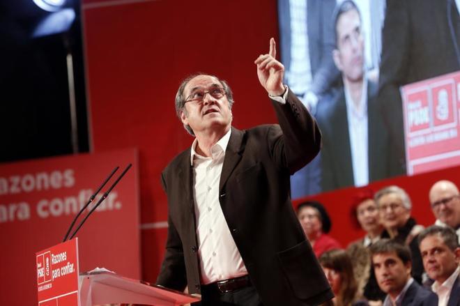 El candidato de la Comunidad de Madrid, Ángel Gabilondo, en la presentación de los 'alcaldables'.
