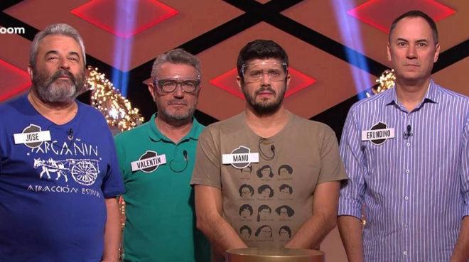José, Valentín, Manu y Erundino, concursantes de Los Lobos en Boom