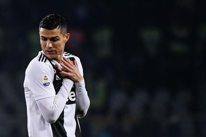 Cristiano Ronaldo, durante el encuentro de la Juventus ante el Torino.