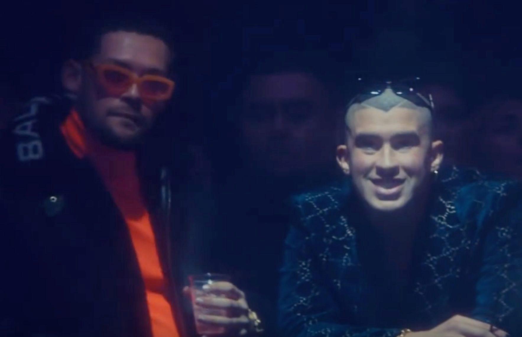 Fotograma del videoclip de Solo de mí, con Bad Bunny