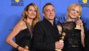 Jean-Marc Vallée, con Laura Dern y Nicole Kidman con los Globos de...