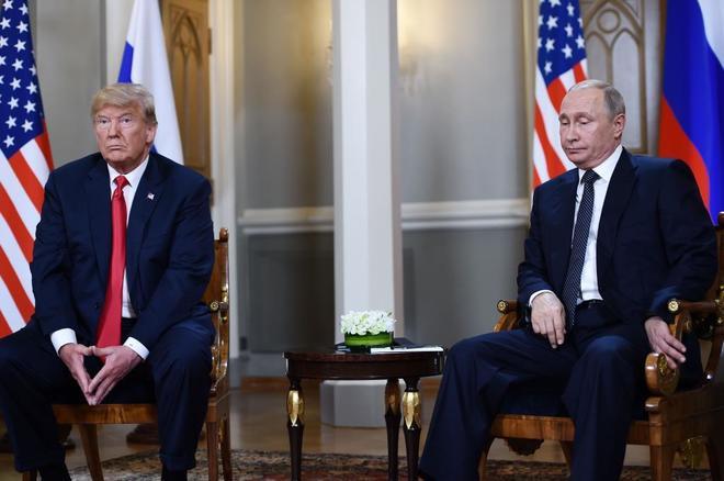 El presidente ruso, Vladimir Putin, y Donald Trump durante su reunión el pasado verano en Helsinki.