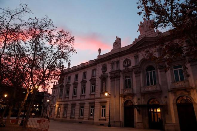 El Tribunal Supremo, en la mañana de este martes en Madrid.