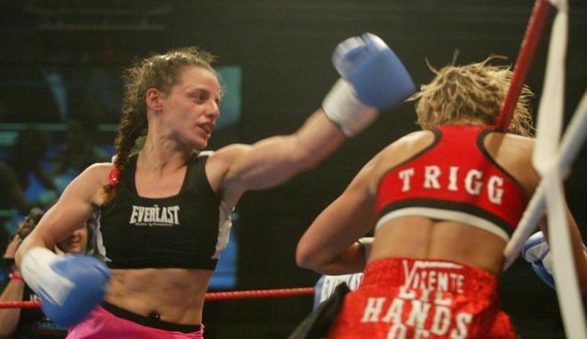 María Jesús, en un combate de 2003.