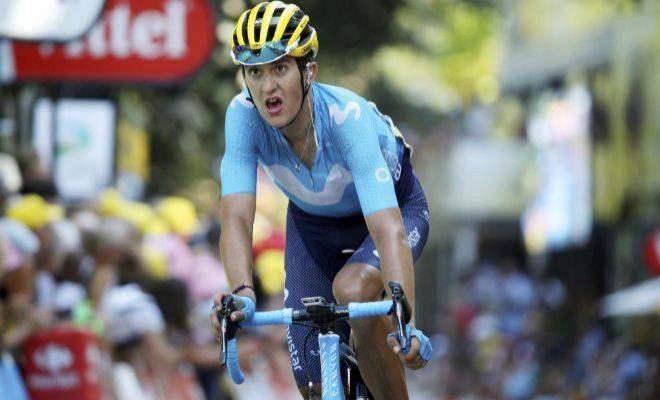 Marc Soler, durante la 16ª etapa del último Tour, con final en Bagneres-de-Luchon.