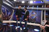 Saúl Ñíguez y Pablo Motos en un momento de El Hormiguero