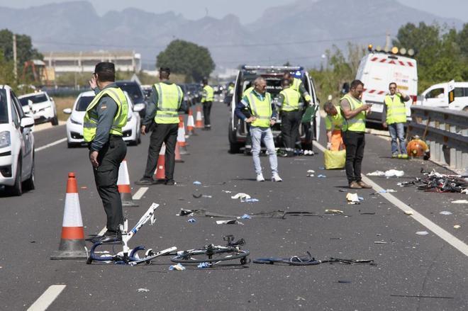 Atropello mortal de varios ciclistas por una conductora drogada en Valencia en abril de 2017.