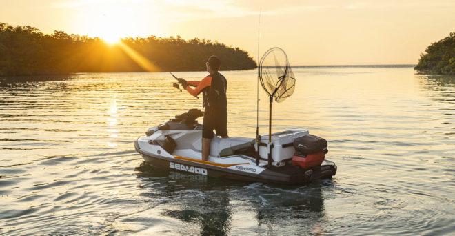 El modelo Fish Pro de Sea-Doo, pensado para amantes de la pesca, incluye caja extraíble.