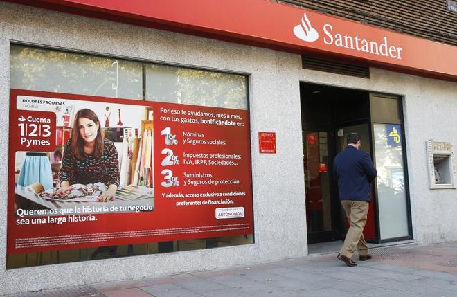 Una sucursal de Banco Santander.