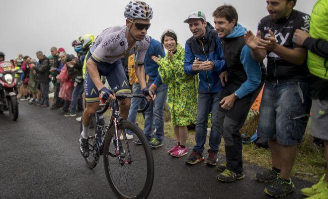 Stefan Denifl, ganador en Los Machucos, durante la 17ª etapa de la Vuelta 2017.