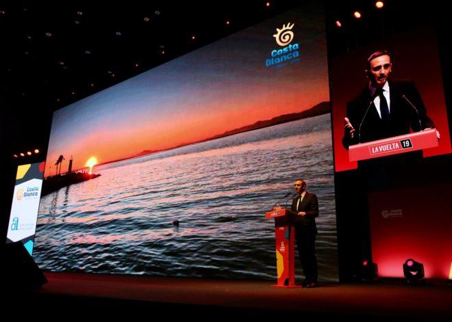 Presentación de La Vuelta,ayer en Alicante.