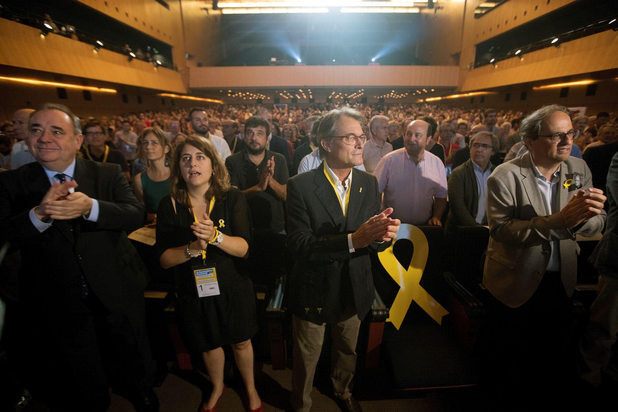 Ortuzar respalda en Barcelona la puesta en libertad de los políticos independentistas junto a Quim Torra