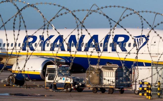 Un avión de Ryanair en el aeropuerto belga de Charleroi.