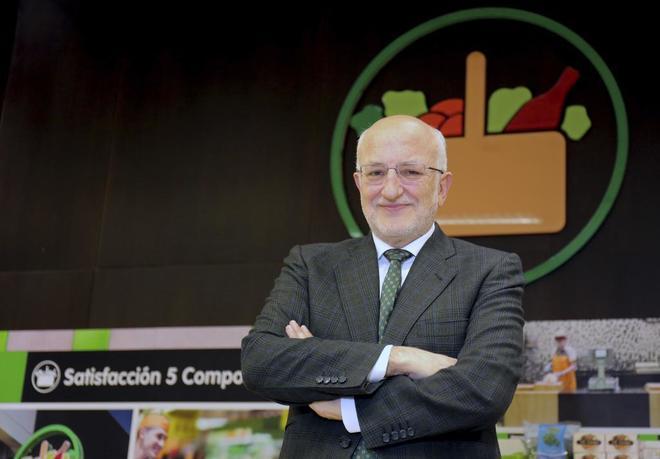 El presidente de Mercadona, Juan Roig, en la presentación de los resultados.