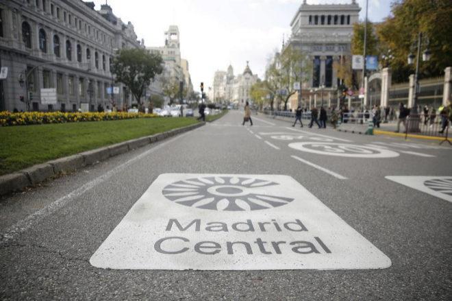 Entrada al perímetro de Madrid Central por la calle Alcalá