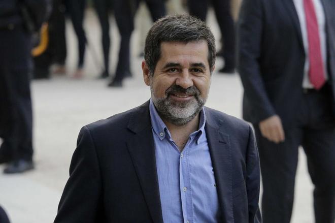 Jordi Sànchez se dirige a la Audiencia Nacional el 16 de octubre de...