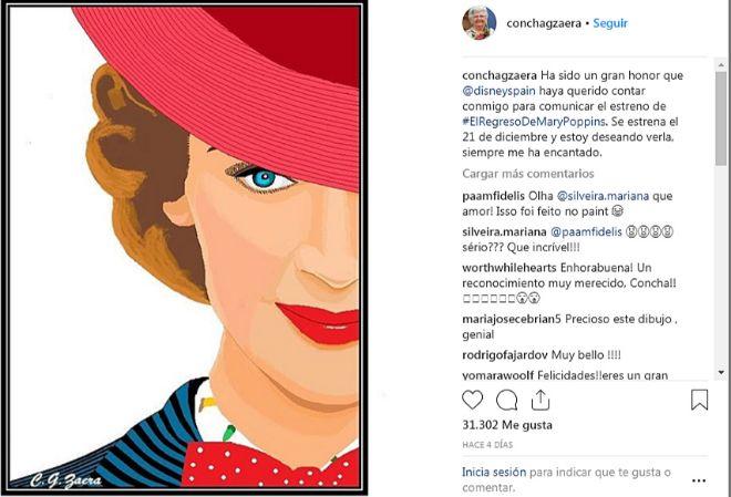 Imagen con la que comunicó el estreno de Mary Poppins.
