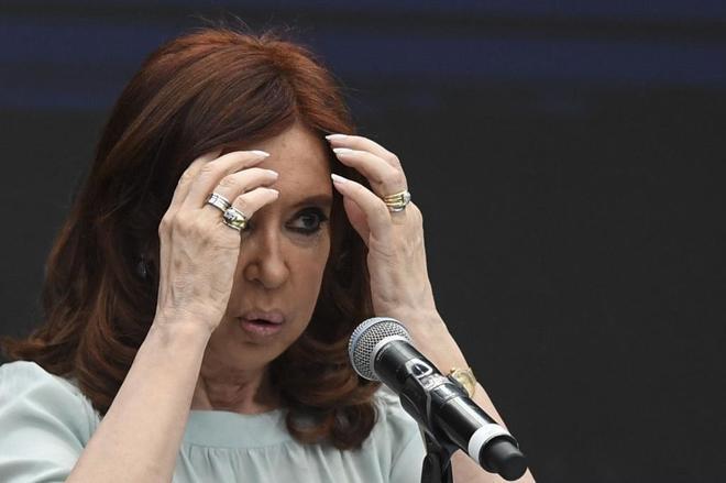 La ex presidente Argentina, Cristina Fernández de Kirchner, durante un juicio el pasado noviembre.