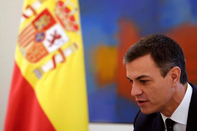 El presidente del Gobierno Pedro Sánchez, ayer en el Palacio de la Moncloa.